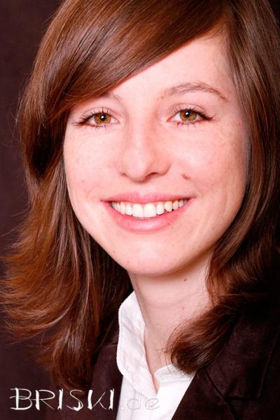 angeschnittenes Bewerbungsfoto einer Frau