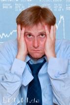 Portrait eines verzweifelten Mannes wg. Börsenabsturz