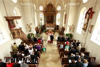 kirchliche Trauung von oben