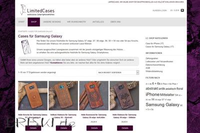 Webshop für Smartphonehüllen umgesetzt mit WordPress